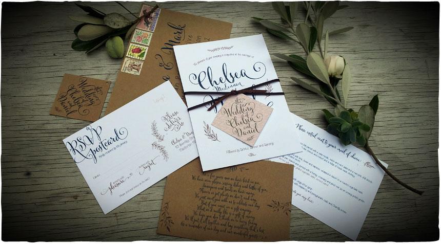 Beech Tree Creative Personalised Wedding Invitations And